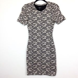 Babaton Lace Floral BodyCon Dress S - N3025